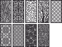 Pattern Panel Screen Collection Free Vector Cdr
