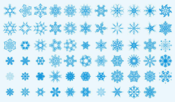 Snowflakes Vector Art Collection Free Vector Cdr