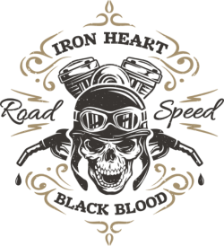 Iron Heart Print Free Vector Cdr