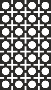 Seamless Square Circle Pattern Vector Free Vector Cdr