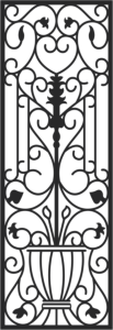 Faux Wrought Iron Pattern Free Vector Cdr