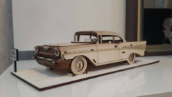 Chevrolet Bel Air 1957 Vector file for laser cutting CNC Free Vector Cdr
