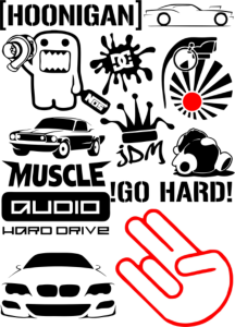 Vinyl stickers and badges Vector Pack Free Vector Cdr