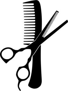 Hairdresser Comb And Scissors Free Vector Cdr