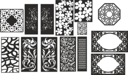 Abstract Floral Pattern Vectors Set Free Vector Cdr