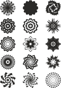 Abstract Flowers Vector Art Free Vector Cdr