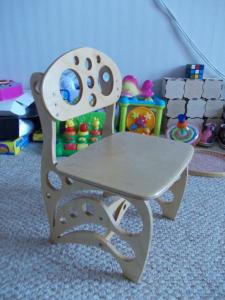 Children Chair DIY 3D Puzzle Free Vector Cdr