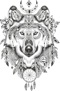 Wolf Dreamcatcher Free Vector Cdr