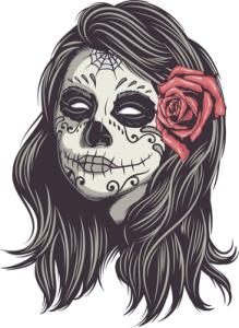 Mexican Skull Woman Vector Art Free Vector Cdr