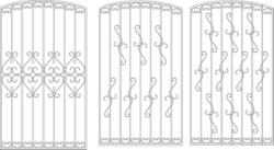 Contemporary Window Grill Design For Home Free Vector Cdr