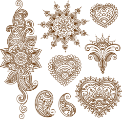 Henna Tattoo Flower Template Mehndi Style Free Vector Cdr