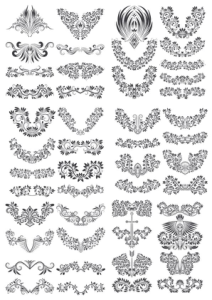 Floral Decor Vector Set Free Vector Cdr