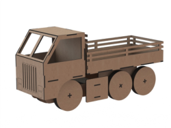 Truck Toy Laser Cut Free Vector Cdr