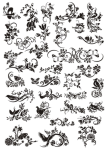 Flowers Decor Elements Free Vector Cdr
