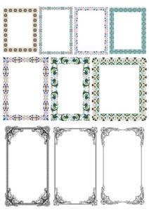 Elegant Decorative Frame Borders Free Vector Cdr