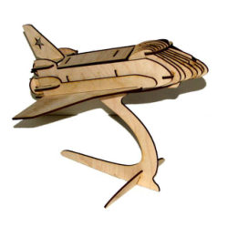 Shuttle 3D Puzzle Free Vector Cdr