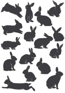 Rabbit Silhouette Vectors Free Vector Cdr