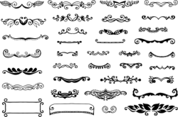 Vintage Elements Vectors Free Vector Cdr