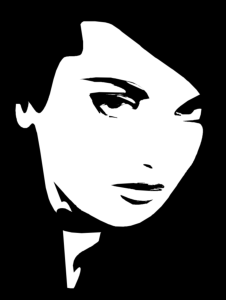 Woman face black and white vector Free Vector Cdr