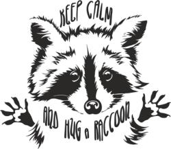 Funny Touching Raccoon Wants Hug Cuddle Vector Free Vector Cdr