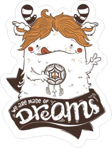 Made Of Dreams Sticker Free Vector Cdr