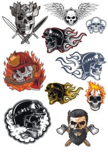 Skull Illustration Vector Art Set Free Vector Cdr