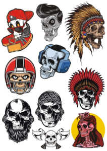 Skulls Set Free Vector Cdr