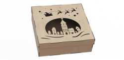 Box Made Of Plywood With A Pattern Cut By Laser Free Vector Cdr