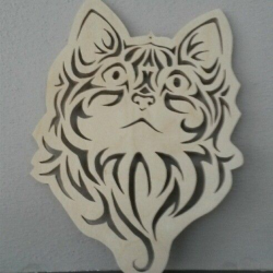 Cute Kitten Face Cat Stencil Vector Free Vector Cdr