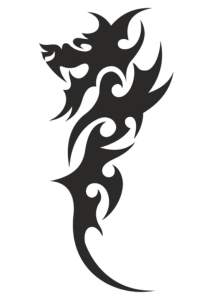 Chinese Tribal Dragon Tattoo Vector Free Vector Cdr