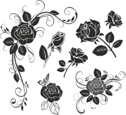 Flower Rose Vector Free Vector Cdr