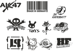 Custom Sticker Vector Pack Free Vector Cdr