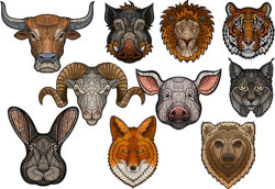 Art Animals Set Free Vector Cdr