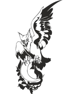 Eagle Wolf Moon Vector Free Vector Cdr