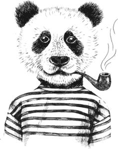 Smoking Panda Vector Art Free Vector Cdr