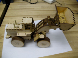 Laser Cut Wood Front End Loader Toy Kit Free Vector Cdr