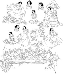 Pretty Snow White And Seven Dwarfs Grumpy Free Vector Cdr