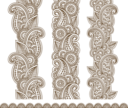 Mehndi Border Designs Vector Art Free Vector Cdr