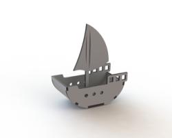 Sailing Ship Laser Cut Free Vector Cdr