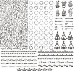 Floral Kit Handdrawn Free Vector Cdr