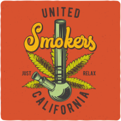 United Smokers Print Free Vector Cdr