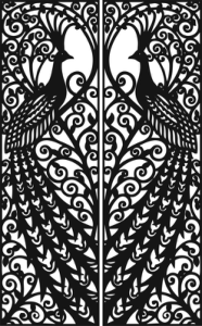 Laser Cut Door Design Peacock Free Vector Cdr
