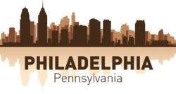 Philadelphia skyline city silhouette vector Free Vector Cdr