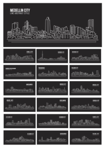 Silhouette Vector World Cities Free Vector Cdr