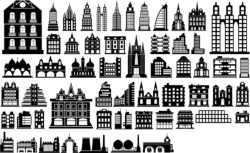 Building Silhouette Vector Free Vector Cdr