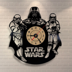 Star Wars Darth Vader Wall Clock and Storm Troopers Free Vector Cdr