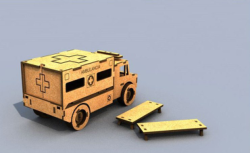 3d Puzzle Ambulance Free Vector Cdr