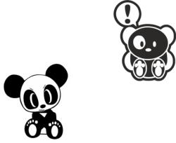 JDM Team Panda Sticker Vector Free Vector Cdr