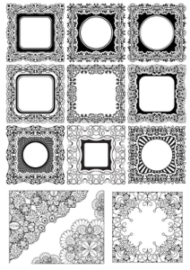 Square Frame Ornamental Vectors Free Vector Cdr