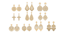 Vectors for cutting earrings Free Vector Cdr